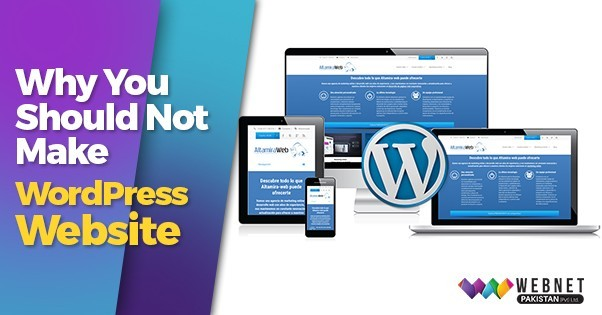 Why You Should Not Make WordPress Website