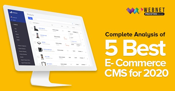 Complete Analysis of 5 Best E-commerce CMS for 2020